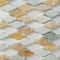 Micro Grass Seed 12 in. x 12 in. x 8 mm Glass and Marble Mosaic Tile