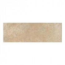Grand Cayman Oyster 3 in. x 12 in. Porcelain Bullnose Floor and Wall Tile