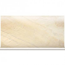 Ayers Rock Solar Summit 6 in. x 13 in. Glazed Porcelain Cove Base Floor and Wall Tile