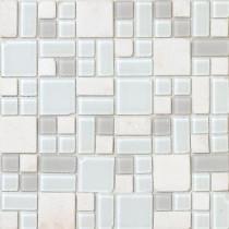 No Ka 'Oi Kapalua-Ka420 Stone And Glass Blend Mesh Mounted Floor and Wall Tile - 3 in. x 3 in. Tile Sample