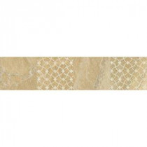 Ayers Rock Golden Ground 3 in. x 13 in. Glazed Porcelain Decorative Accent Floor and Wall Tile