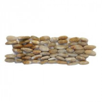 Standing Pebbles Crown 4 in. x 12 in. Natural Stone Pebble Wall Tile (5 sq. ft. / case)