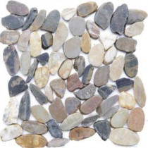 Sienna Mosaic 12 in. x 12 in. Sliced Natural Pebble Stone Floor and Wall Tile (10 sq. ft. / case)