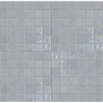 Gemstonez Chalcedony-1301 Mosaic Recycled Glass 12 in. x 12 in. Mesh Mounted Floor & Wall Tile (5 sq. ft. / case)