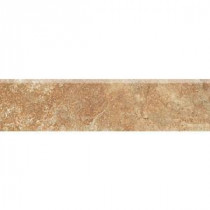 Del Monoco Adriana Rosso 3 in. x 13 in. Glazed Porcelain Bullnose Floor and Wall Tile