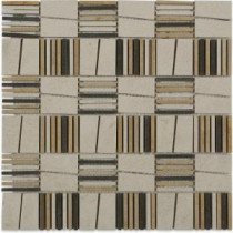 Poet Catullus 12 in. x 12 in. x 10 mm Polished Marble Mosaic Tile