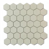 Hexagon White Thassos 12 in. x 12 in. x 8 mm Marble Mosaic Floor and Wall Tile