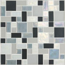 Coastal Keystones Tropical Thunder Random Joint 12 in. x 12 in. x 6 mm Glass Mosaic Floor and Wall Tile