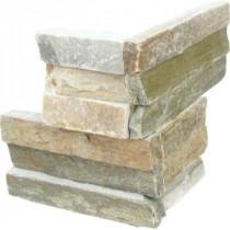 Golden Honey Ledger Corner 6 in. x 6 in. Natural Quartzite Wall Tile (6 sq. ft. / case)