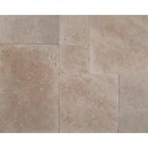Ivory Onyx Pattern Honed-Unfilled-Chipped Travertine Floor and Wall Tile (5 kits / 80 sq. ft. / pallet)