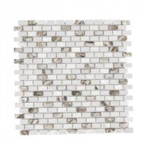 Lucky Cove 12.25 in. x 12 in. x 8 mm Glass and Shell Mosaic Wall Tile