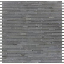 Basalt Blue Bamboo 12 in. x 12 in. x 10 mm Honed Mesh-Mounted Mosaic Tile (10 sq. ft. / case)