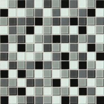 Isis Pewter Blend 12 in. x 12 in. x 3 mm Glass Mesh-Mounted Mosaic Wall Tile