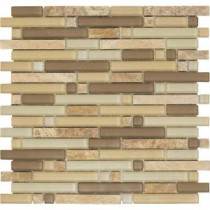 Varietals Sylvaner-1654 Stone And Glass Blend 12 in. x 12 in. Mesh Mounted Floor & Wall Tile (5 sq. ft. / case)