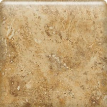 Heathland Amber 6 in. x 6 in. Glazed Ceramic Bullnose Wall Tile