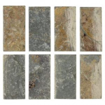 Tumbled Slate 3 in. x 6 in. x 8 mm Floor and Wall Tile (8 pieces/pack)