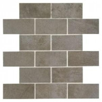 Studio Life Times Square 12 in. x 12 in. x 6 mm Ceramic Brick Joint Mosaic Tile