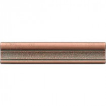 Castle Metals 2-1/2 in. x 12 in. Aged Copper Metal Hammered Ogee Liner Trim Wall Tile