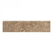 Artea Stone 3 in. x 13 in. Cappuccino Porcelain Bullnose Floor and Wall Tile