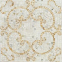 Marquess Honey Onyx and Calacatta 12 in. x 12 in. x 10 mm Polished Marble Mosaic Tile